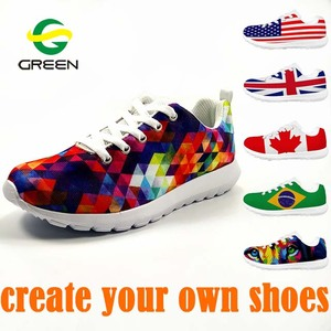 Greenshoe 2018 new China factory 3D printing shoes blank custom sneakers shoes men sport,sport shoes men sneakers