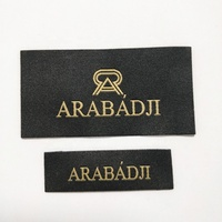 custom woven labels / clothing brand logos / center fold label