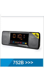 custom color black shell alarm clock radio with usb