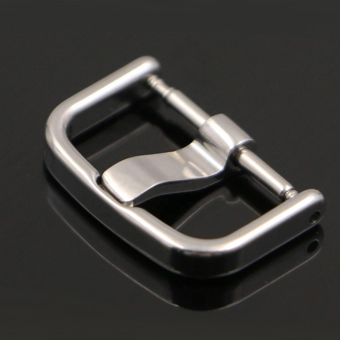 OEM/ODM 16mm faixa de relógio de fivela 304/316L relógio de prata de aço inoxidável pulseira buckle para relógio de borracha cintas