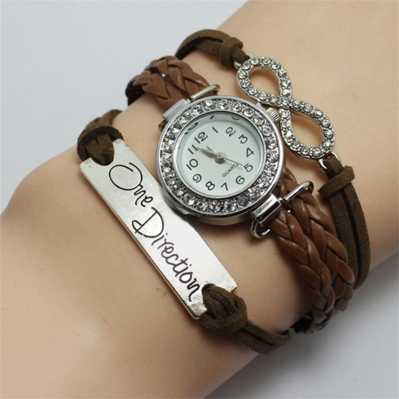 Wholesale factory direct vintage diamond infinity charm watches fashion women jewelry watches фото