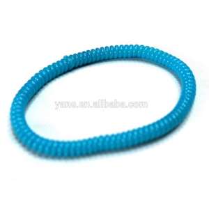 Blue hair bands plastic telephone wire hair bands hair ties