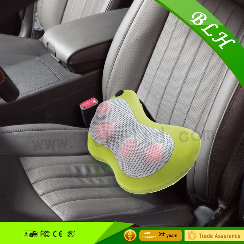 3D Mini Heating Silicone Massage Cushion Pillow for Home Car Use