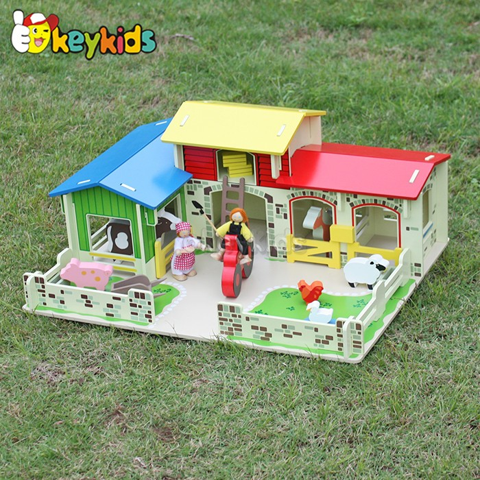 wholesale kids wooden farm toys top fashion children wooden farm toys W06A167-S