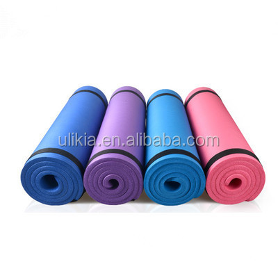 10mm Thick NBR Non-slip Exercise Fitness Yoga Mats Extra Long 72 Inch with carry strap
