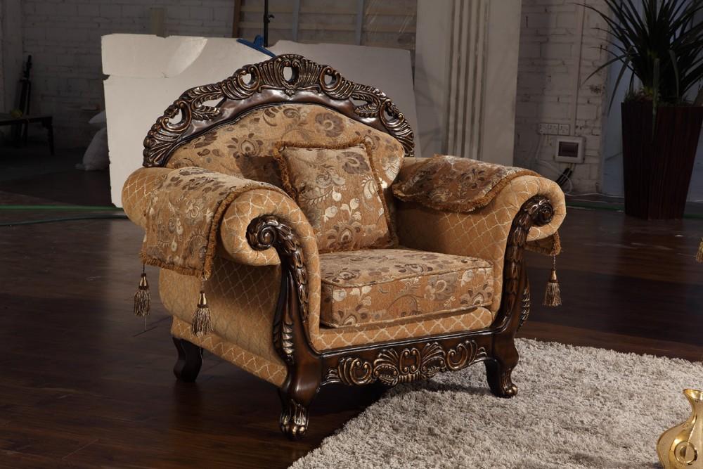 European Style Fabric Sofa Set Designs For Royal Furniture