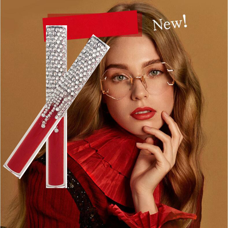 2019 Stock sale 5 Colors Liquid Lipstick Diamond lip gloss SET Matte Lipstick Red Velvet Cosmetics Lips Makeup фото