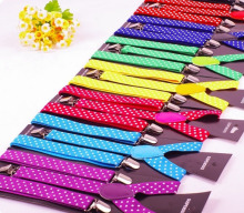 Cheap Prices Dotti Screen Printing Suspenders For Girls Colorful Braces wholesale