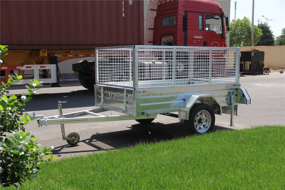 CE Certificated Galvanized Sheet Cage Trailer