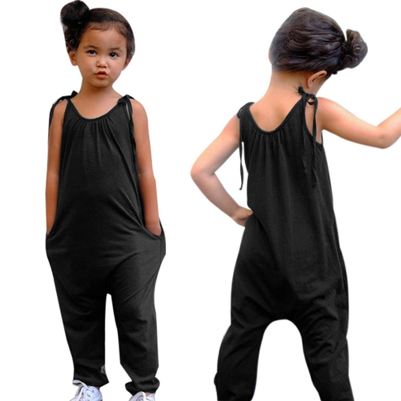 ba7cd2f7d Get Quotations · Baby Jumpsuit, GoodLock Toddler Kids Baby Girl Summer  Strap Romper Jumpsuit Harem Pants Trousers Clothes