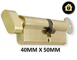 Euro Cylinder Thumb Turn (40mmx55mm) - Brass - ANTI-PICK ANTI-DRILL High Security uPVC Door Lock Cylinder Barrel