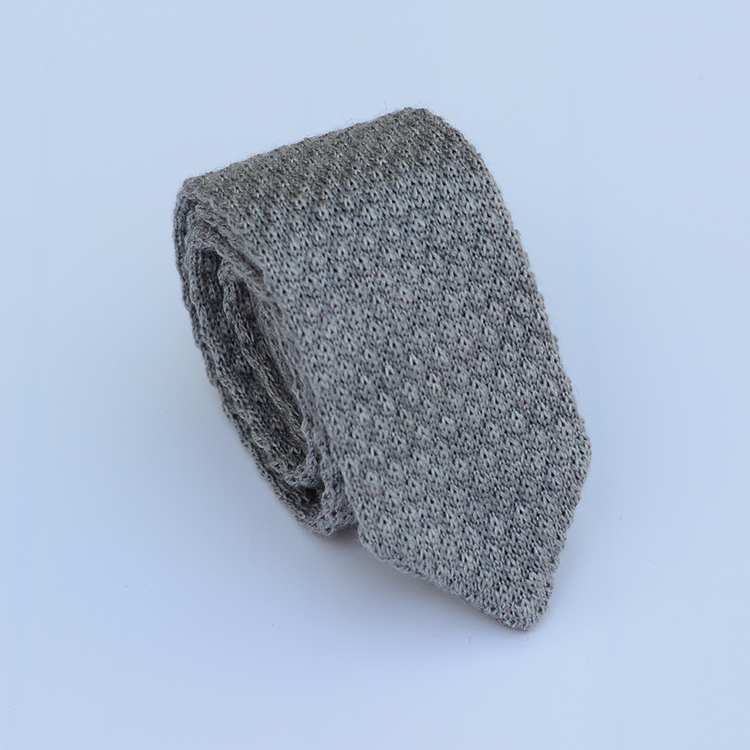 Custom Colorful Knitted Wool Neck Tie With Pointed End