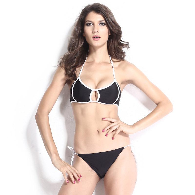 e67788e185 Get Quotations · 2015 black white Sexy strappy bikini string swimsuits  bandeau swimwear women bathing suit bather Agent Provocateur