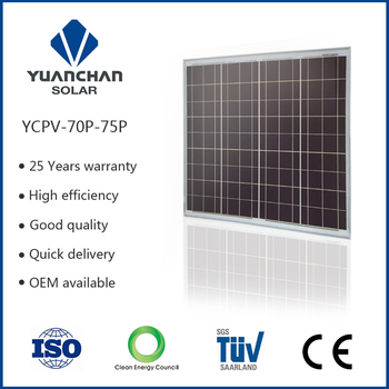 70w Poly Solar Panel Home Solar Systems With Ce Iso Tuv