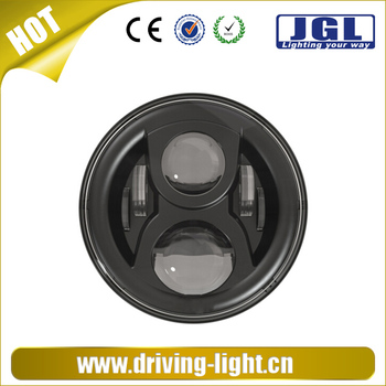 dot approved 7 inch led driving light 70w round led. Black Bedroom Furniture Sets. Home Design Ideas