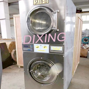 China Full Auto coin operated stack washer dryer commercial laundry machine  for philippines market Cost with Warranty