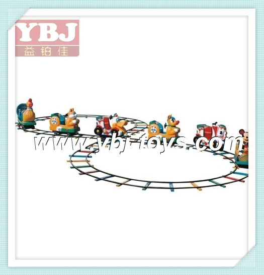 2014 Outdoor Playground Kids toys manufacturer fiberglass train for sale