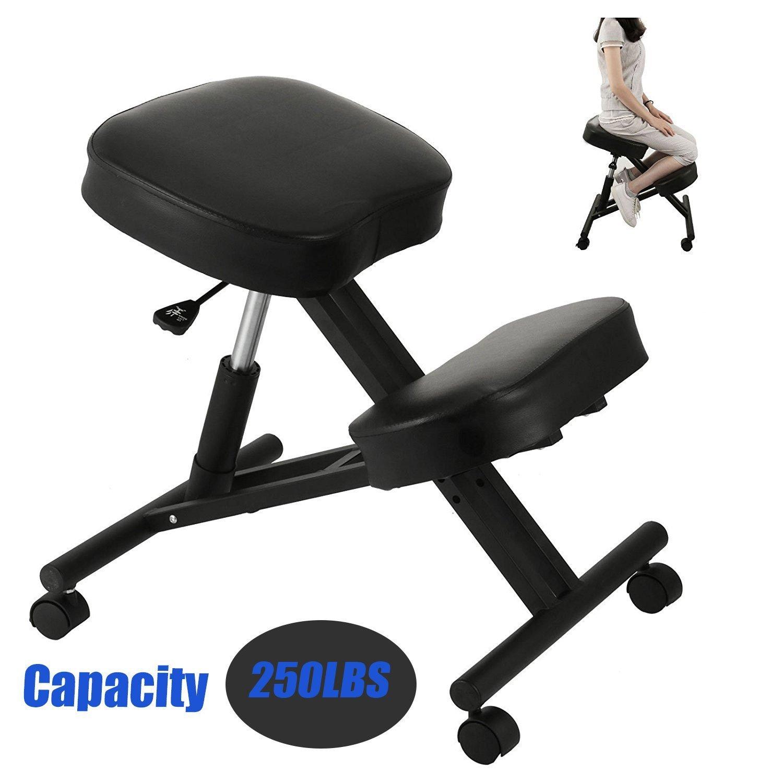 VEVOR Ergonomic Kneeling ChairAdjustableKneelingStool Heavy Duty Perfect for Office or HomeRelieving Stress