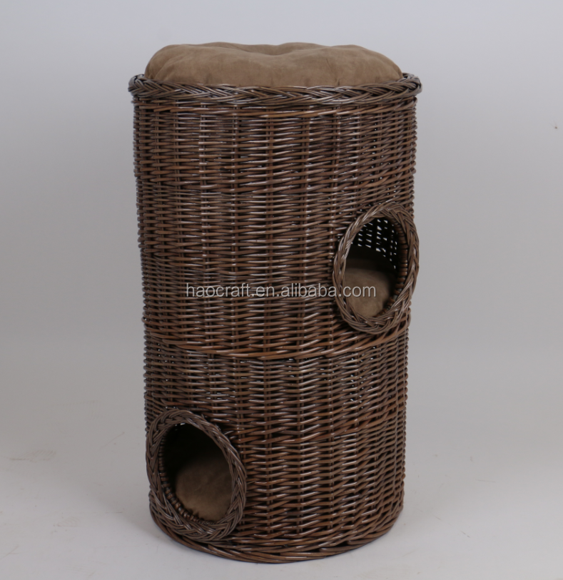 2018 New Design Handmade Wicker Rattan Pet house