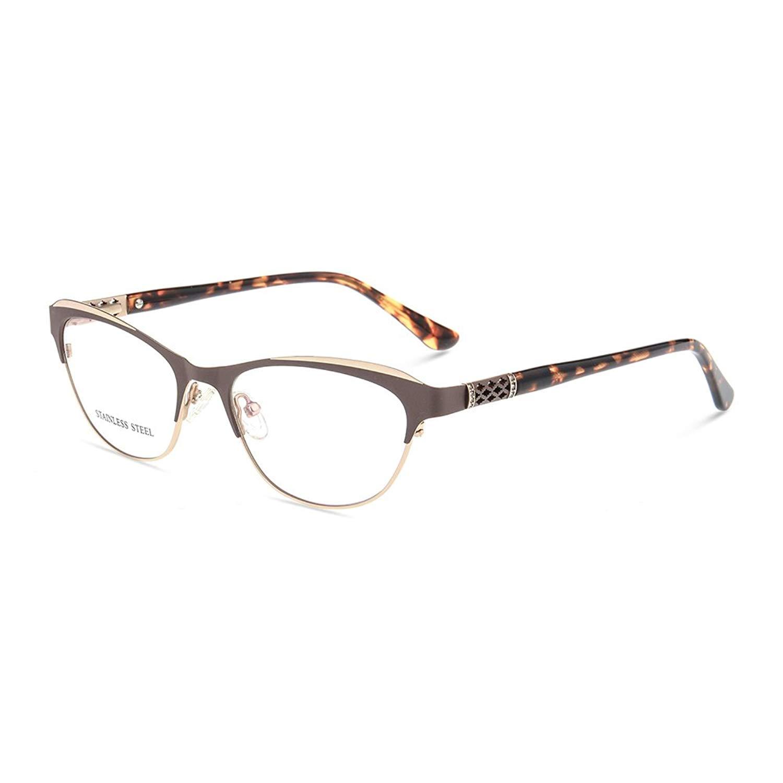 057efeb9d61 Get Quotations · Eyewear Frames Women Optical Eyeglasses Frame Glasses  Designer Full Rim 53-17-139
