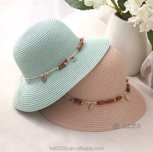 Summer handmade flower straw hat women's Garland sun bonnet bucket hat beach cap sun hat for women