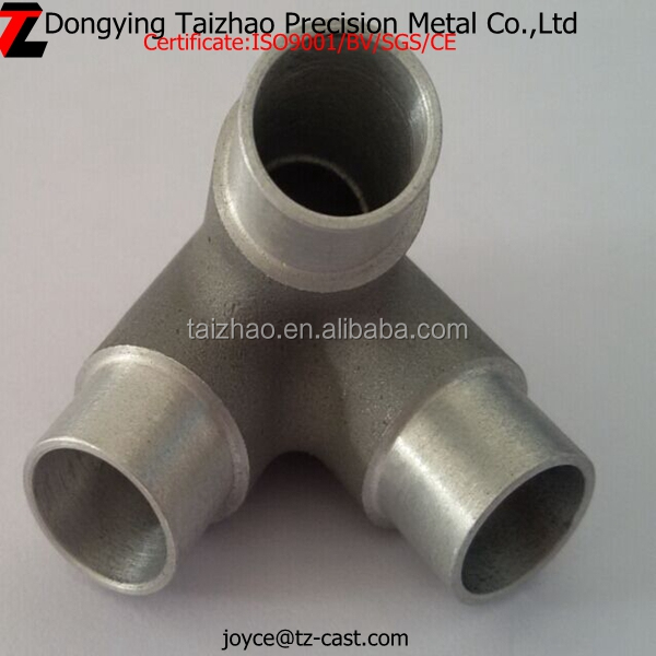 Factory price aluminum pipe fittings reducing tee