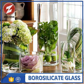 Heat Resistant Crystal Tall Glass Vase For Flower Arrangements Buy