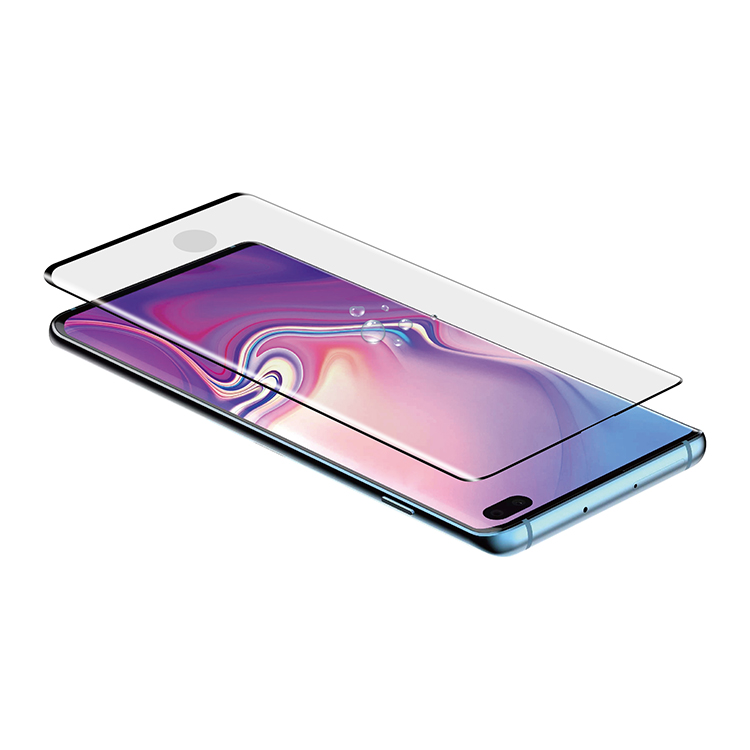 100% Glass with Sensitive Fingerprint Recognition ! For Samsung S10& S10+ 0.26mm 3D Glass Protector with Aplicator