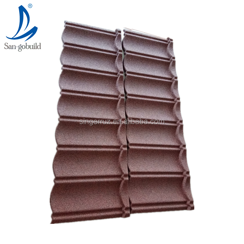 Villa roof designs clay style roofing panel colorful stone coated steel metal sheets home need building material made in China