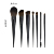 OUMO BRUSH--New 7pcs combination wood handle synthetic hair makeup brush set private label with eyebrow brush