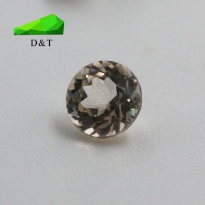 wuzhou factory price nice quality Morganite Stone round shape loose gemstone