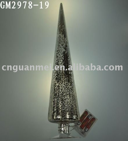 glass christmas tree with LED light