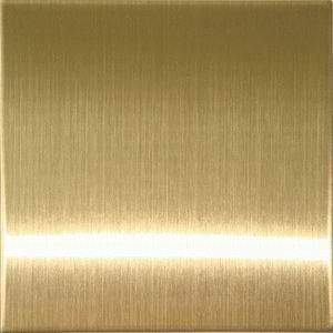 Brushed Champagne Gold Colored Stainless Steel Sheets