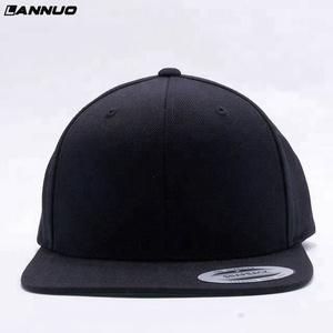ea5c6bfa208 Simple black plain snapback caps