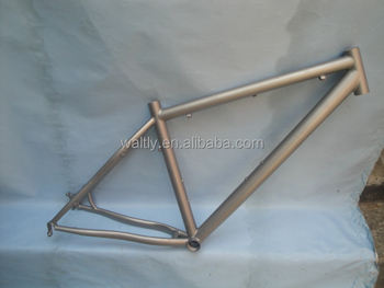 Sandblasted finish titanium material 29er mountain bike frame