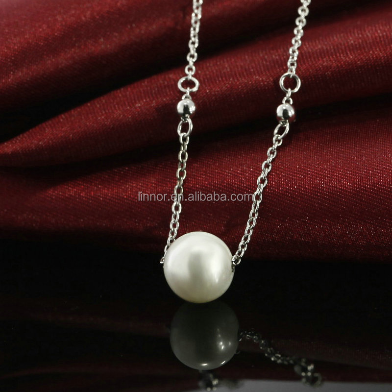 Best quality promotional sterling silver necklace pearl cage pendant jewellery fashion