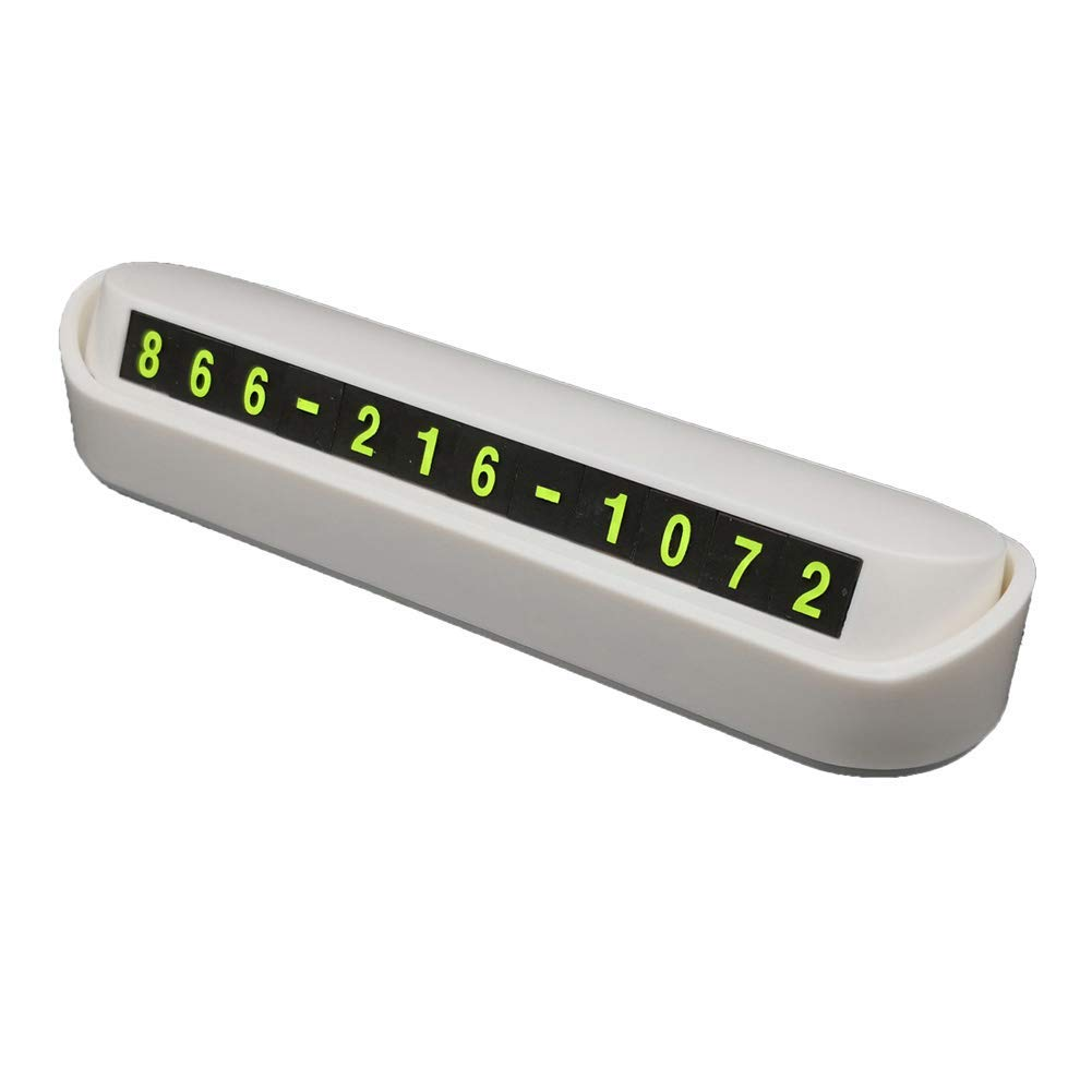 Car Temporary Parking Card - Privacy Protection Car Phone Number Plate, Ideal for Temporary Parking, for Car Interior Accessories(White)