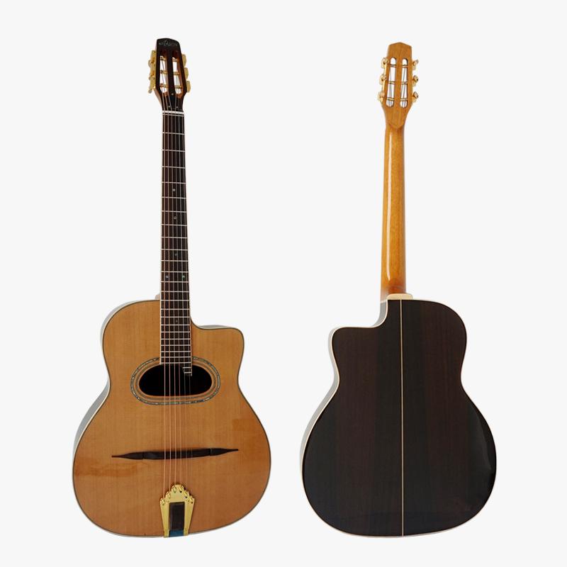 Alibaba.com / Aiersi brand archtop vintage Grande Bouche acoustic maccaferria Gypsy Jazz Guitar
