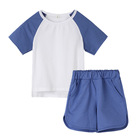 baby clothing sets toddler boy short sleeve suit cotton tracksuit blank clothes set kids pajamas summer clothing