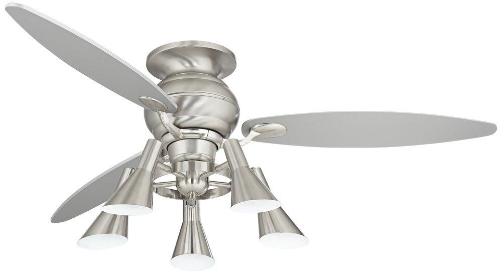 "60"" Spyder Hugger Silver Retro Light Ceiling Fan"