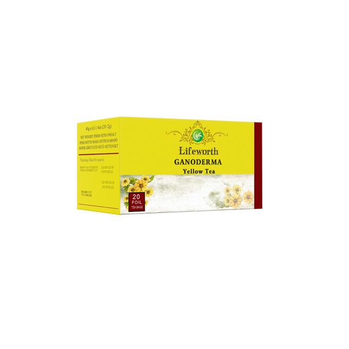 Lifeworth detox yellow tea bag with ganoderma lucidum extract - 4uTea   4uTea.com