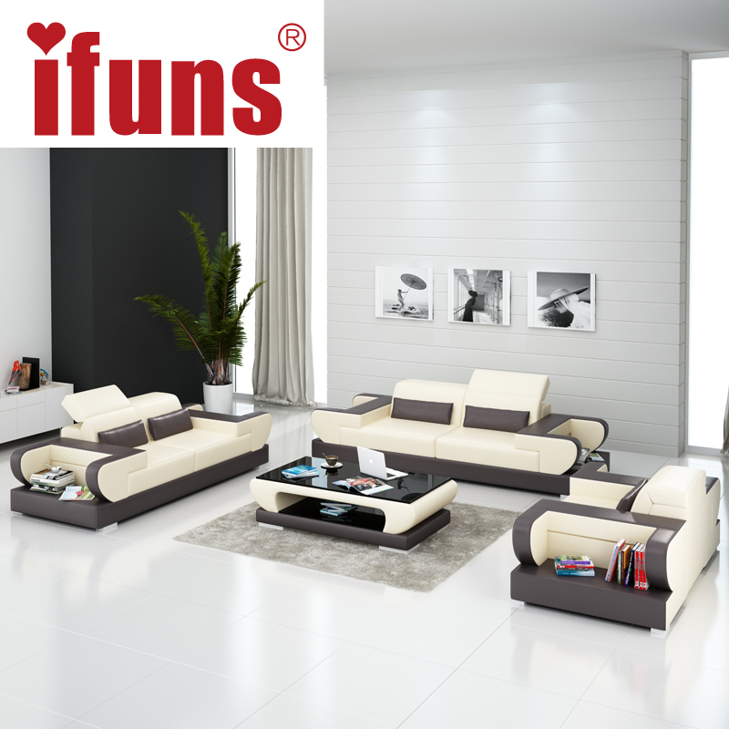 Cheap Genuine Leather Sectional Sofa: IFUNS Modern Design Genuine Leather Sectional Sofa,sofa