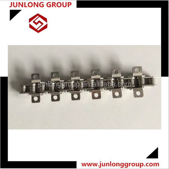 ANSI ISO A B series short double long pitch 304 stainless steel conveyor roller chain K1 K2 SA attachment