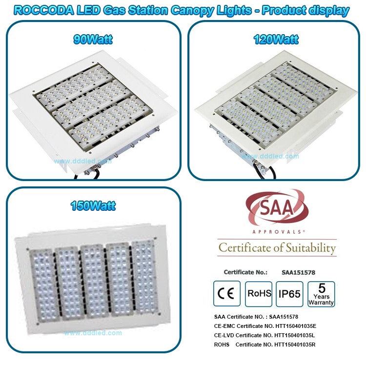 Saa Led Gas Station Light High Bay Light Fixtures 100w 150w 200w ...