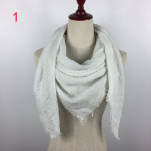 Very soft wholesale plain cotton scarf solid color