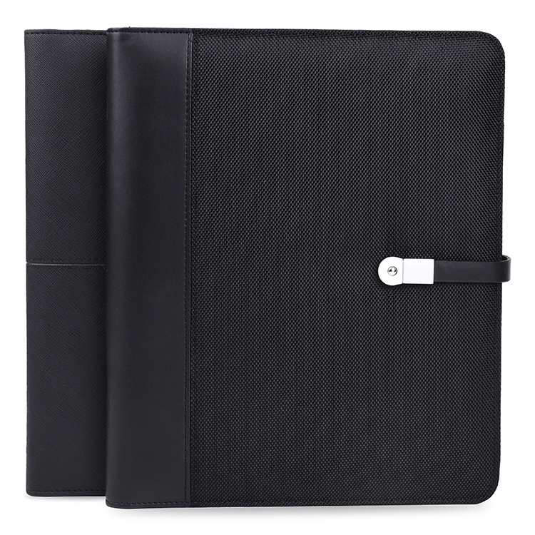 REYON portfolio notebook power bank 4000 mah met 8G flash drive, organizer, universele tablet houder