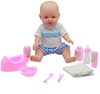 Top sale E-co Friendly plastic baby doll with drink and pee function for 3+ kids