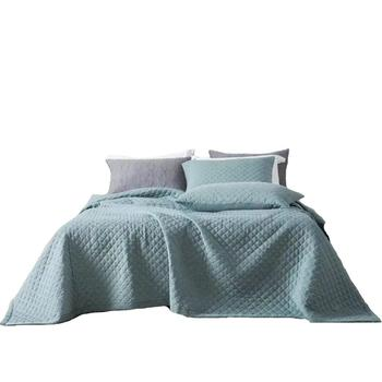 Reactive printing blue queen size 100 cotton bed sheets