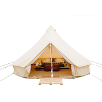 3M 4M 5M 6M cotton canvas marquee tent glamping bell tent