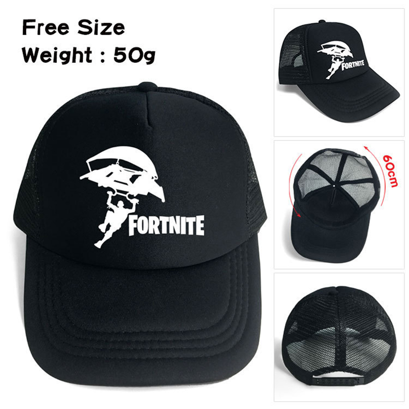 f40839016e9a7 Fortnite Printing Baseball Hats Fitted Male And Female Style Net Sun Cap  Fashion Popular Summer Snapback